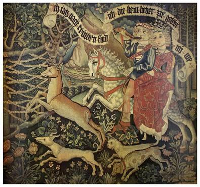 Nicht bekannt German 15th Century Tapestry - The Pursuit of Fidelity