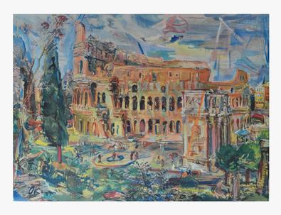 Oskar Kokoschka Rom, das Kolosseum