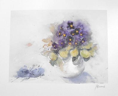 J. Haemmerle Blumen in Vase