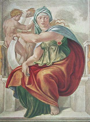 Michelangelo Die Delphische Sibylle