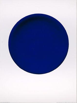 Yves Klein Disque bleu IKB 54 1957