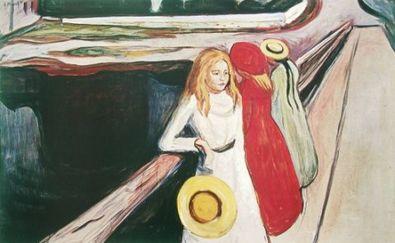 Edvard Munch Maedchen auf einer Bruecke