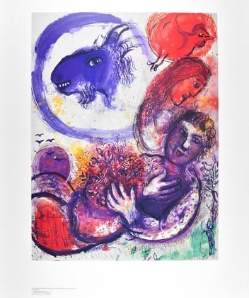 Marc Chagall Die blaue Ziege (klein)