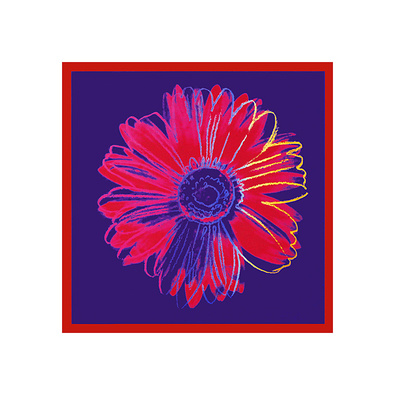 Andy Warhol Daisy, 1982 (Blue / Red)