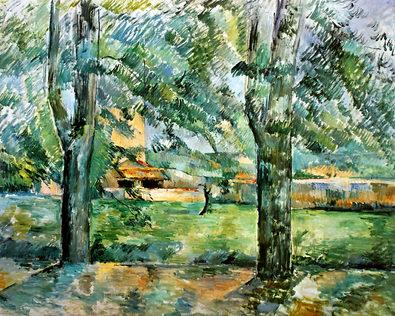Paul Cezanne Field at Jas de Bouffan