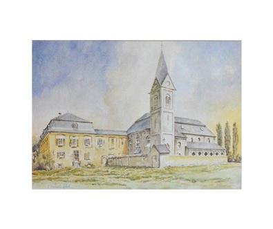unbekannter Kuenster Kloster Neuwerk, Aquarell