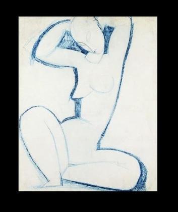Amedeo Modigliani Blaue Karyatide II