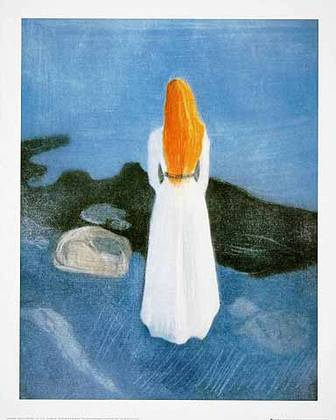 Edvard Munch Young Girl on a Jetty