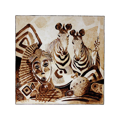 Michel Moreau 3er Set 'Carnet de Voyage - Zebres' + 'Carnet de Voyage - Rhinoceros' + 'Carnet de Voyage - Girafe'