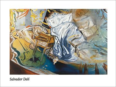 Salvador Dali Lit et 2 tables de nuit attaquant ferocement