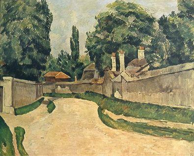 Paul Cezanne Die Dorfstrasse