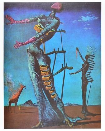 Salvador Dali Die brennende Giraffe