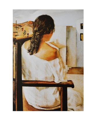 Salvador Dali Maedchen auf Stuhl