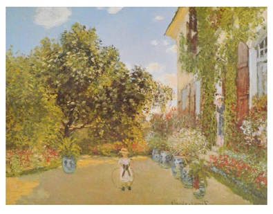 Monet claude das haus des kuenstlers in argenteuil 1873 large