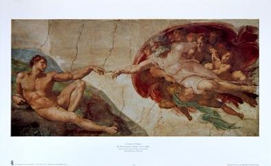 Michelangelo The Creation of Man (Klein)