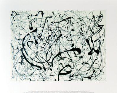 Jackson Pollock Number 14 Gray