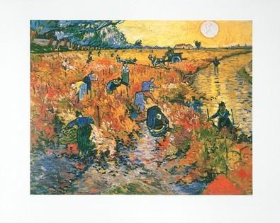 Vincent van Gogh Die roten Weinberge von Arles