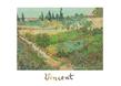 Van gogh vincent blumengarten giardino con fiori medium