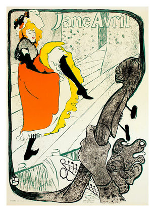 Henri Toulouse-Lautrec Jane Avril, 1893