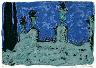 Werner Reuber Garten bei Nacht