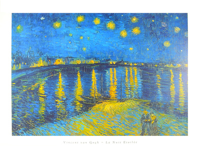 vincent van gogh sternennacht ueber der rhone poster kunstdruck bei. Black Bedroom Furniture Sets. Home Design Ideas