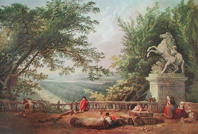 Robert Hubert Die Terrasse von Marly