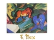 Marc franz rotes und blaues pferd medium