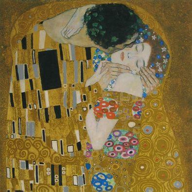 Gustav Klimt Der Kuss (Detail)   1907 08