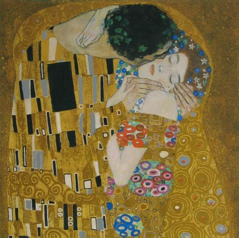 gustav klimt der kuss detail 1907 08 poster kunstdruck bei. Black Bedroom Furniture Sets. Home Design Ideas