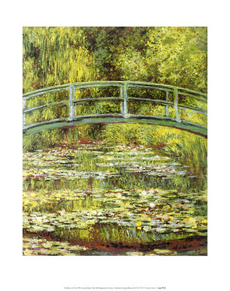 Claude Monet The Water Lily Pond & Bridge (klein)