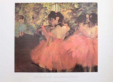 Edgar Degas Ballerina in Rosa