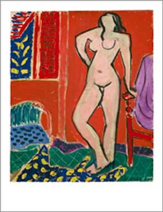 Henri Matisse Nu rose interieur rouge