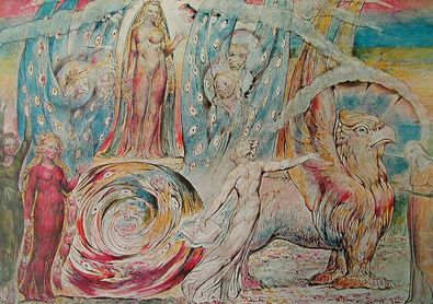 William Blake Beatrice wendet sich an Dante