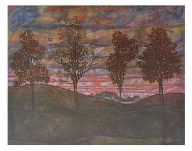 Egon Schiele Vier Baeume  1917