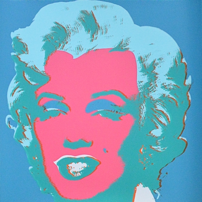 Warhol andy marilyn blue large