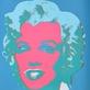 Warhol andy marilyn blue l