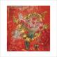 Marc Chagall Fleurs sur fond rouge, 1970