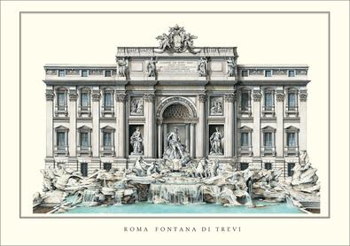 Nicola Salvi Rom, Trevi Brunnen