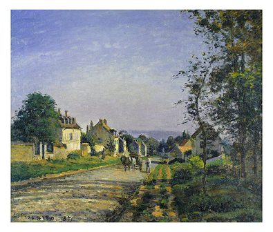 Camille Pissarro Landscape at Louvisiennes (klein)