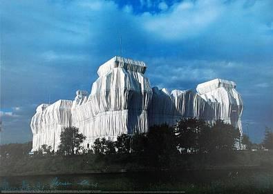 Christo und Jeanne-Claude Reichstag Ost- u. Nordfassaden, signiert
