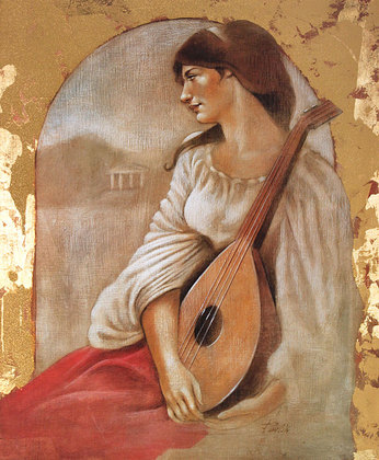 Parrish Woman with Lute