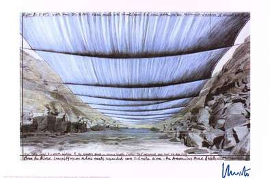 Christo Over the River IV Under, handsigniert