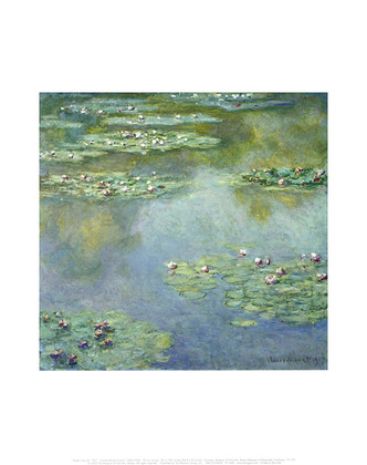 Monet claude water lilies 1907 large