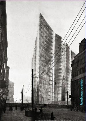 Mies van der Rohe Hochhaus Friedrichstrasse 1922