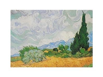 Vincent van Gogh Kornfeld mit Zypressen
