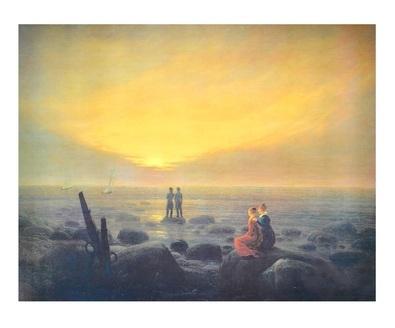 Caspar David Friedrich Mondaufgang am Meer, Eremitage (lackiert)