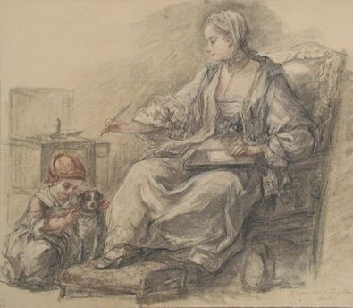 Francois Guerin Schreibende Dame