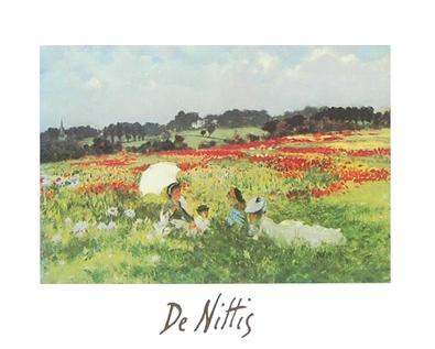 Giuseppe De Nittis In den Mohnfeldern vor London