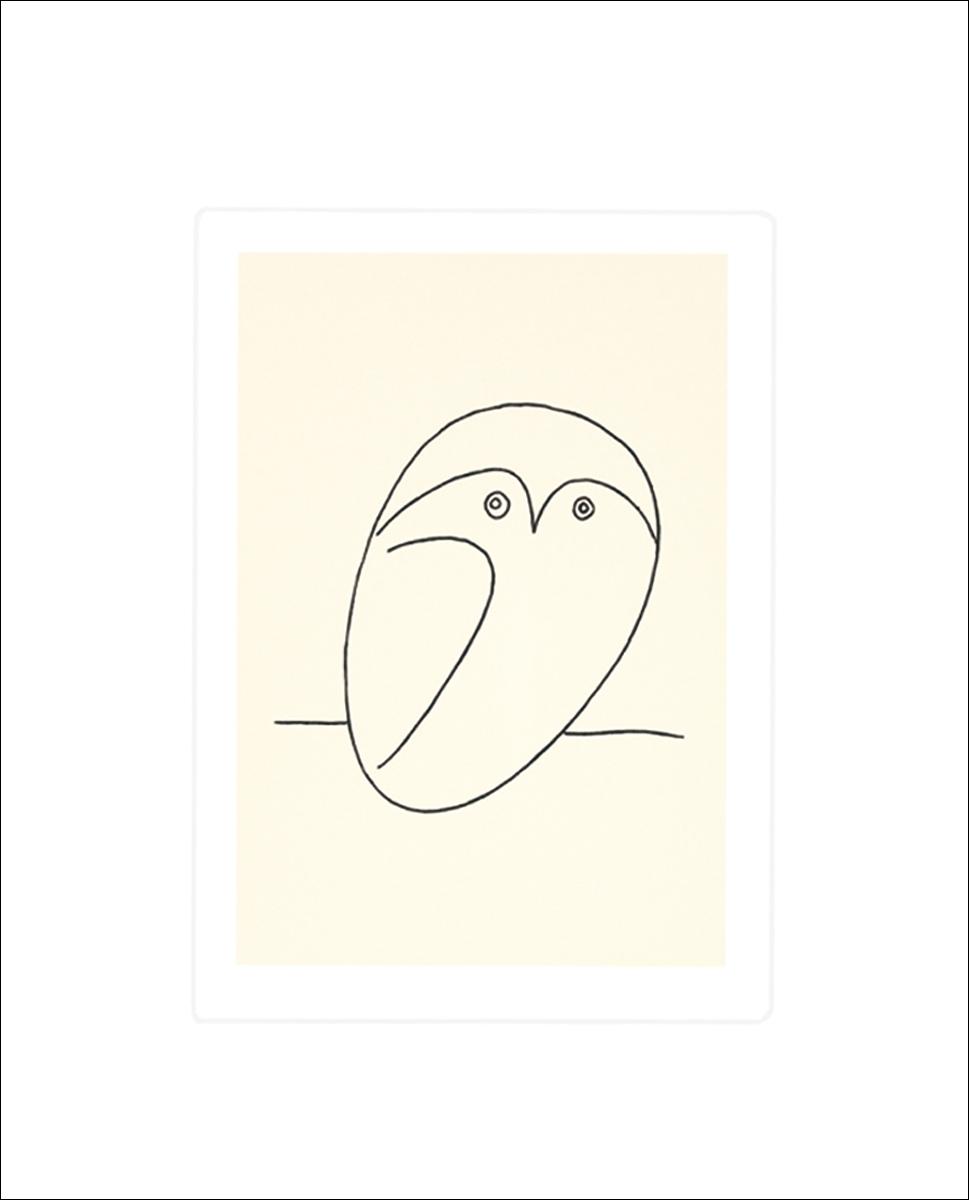 pablo picasso eule poster kunstdruck bei. Black Bedroom Furniture Sets. Home Design Ideas