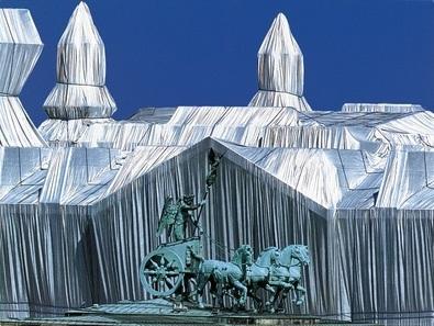Christo und Jeanne-Claude Reichstag mit Quadriga